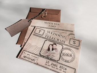 telegram trouwkaart