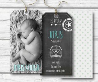 label geboortekaart