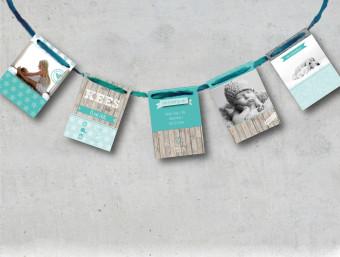 geboortekaart slinger vlaggenlijn