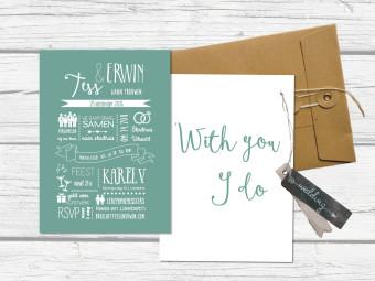 Trouwkaart Typografie
