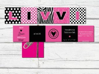harmonicakaart roze zwart