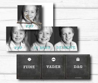 foto vouwkaart, harmonica, vaderdag