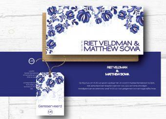 trouwkaarten Delftsblauw