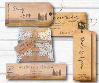 toscaanse trouwkaarten