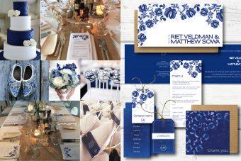 delfts blauwe trouwkaarten en trouwhuisstijl