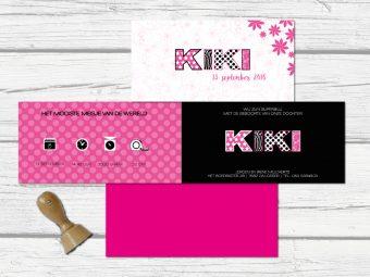 langwerpig kaartje Kiki