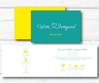 Simpele trouwkaart