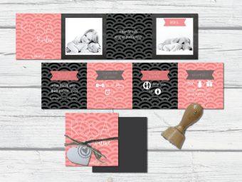 harmonica geboortekaart met foto's en label