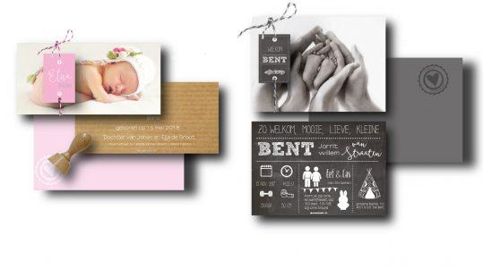 fotokaart zelf ontwerpen labeltje touwtje kraft schoolbord