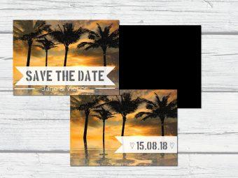 zelf ontwerpen save the date trouwkaart