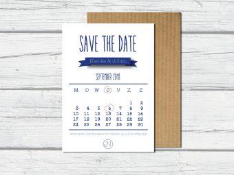 Save the date met kalender