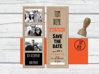 Save the date ticket kraft