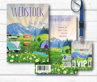 Festival trouwkaart Wedstock