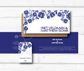 delfts blauwe trouwkaart