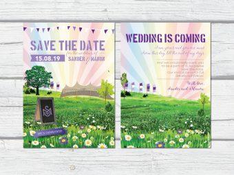 Save the date festival kaarten