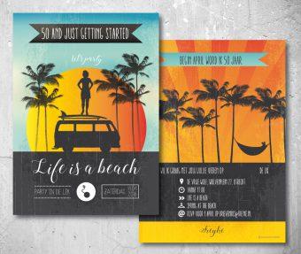 50 jaar feest uitnodiging beach