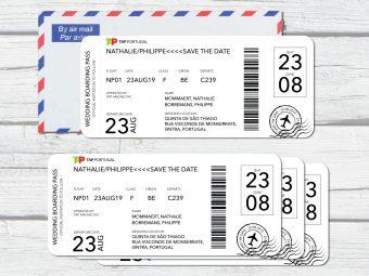 Save the date boardingpasses