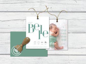 geboortekaartje labels met foto